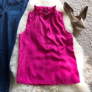 J.Crew Pink Ruffle Camisole